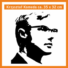 KRZYSZTOF KOMEDA Wandtatoo, ca. 35 x 32 cm, Hochleistungsfolie mit Montagepapier