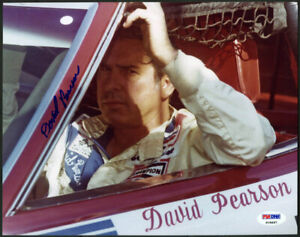 David Pearson SIGNED 8x10 Photo HOF 11 NASCAR LEGEND PSA/DNA AUTOGRAPHED