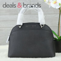 NWT MICHAEL KORS Emmy SM Dome Leather Satchel 35H7SY3S1L in BLACK MSRP  298 3f55e6b601