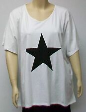 DELUCA,DENMARK,BIG WHITE SHIRT WITH STAR,THEIR SIZE 54,95% COTTON AND 5%SPANDEX.