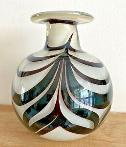 Swirl design Studio glass vase Signed to base