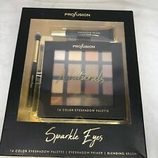 profusion eyeshadow palette 16 Natural Shades With Primer And Blending Brush