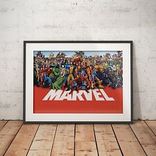 MARVEL ALL CHARACTERS - A4 Glossy Poster - FREE Shipping