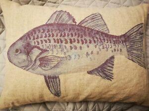 Riva Paoletti Blue Fish Cushion VGC 30 X 50