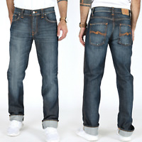B-Ware | Nudie Herren Slim Fit Jeans | Slim Jim Cold Denim | W31 L34