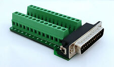 DB25 DSUB 25-pin Male Adapter RS-232 Breakout Board Connector (D9)