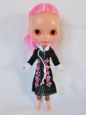 Vintage Blythe Basaak Doll, Pull Ring Eyes Change Color, Pink Hair, 12 in.