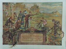"""""""PLUS VIEUX VELO PEUGEOT 1903"""" Diplôme original 1921 Maurice NEUMONT  55x43cm"""