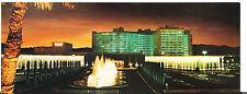 Long Caesars Hotel & Casino Vint Postcard Las Vegas Nevada Night Street Fountain