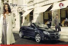 Vauxhall Tigra 2008-09 UK Market Sales Brochure Air Sport Rouge Exclusiv