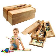 Folding Art Paintting Box 84x40x27cm Wood Multideck Drawing Boys Girls Xmas Gift