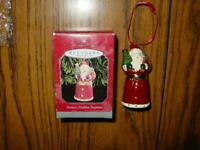 Hallmark Keepsake Ornament - Santa's Hidden Surprise 1998 - Opens Up - Ceramic