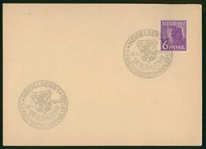Mayfairstamps Germany 1948 Heidelburg Arms Cancel cover wwp12363