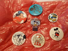 LOT OF 7 VINTAGE COLLECTIBLE DISNEY PINBACK BUTTONS PINS