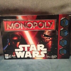 NEW Sealed- Disney Star Wars The Force Awakens Monopoly Board Game