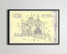 "Haunted Mansion Disney World Blueprint Poster! (up to 24"" x 36"") - Magic Kingdom"