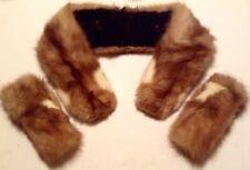 "Vintage ""Dawn"" Mink Collar & Cuffs Set - Great Accessory/Ready To Go!"