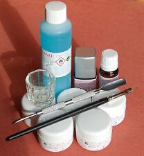 Acrylgel UV LED Starter Set Polyacryl Primer Cleaner Pinsel Spatel Gläschen