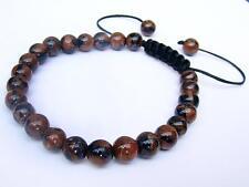Men's bracelet all 8mm Gemstone Natural Goldstone Beads