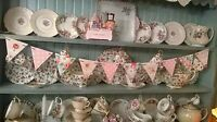 SHABBY CHIC WOODEN BUNTING MADE USING CATH KIDSTON NEW DESIGNS GIRL NURSERY BABY