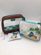 Loungefly Disney Lilo & Stitch Aloha Beach Makeup Cosmetic 3 Bag Set
