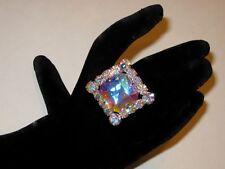 Adjustable Crystal AB Rhinestone Ring Drag Queen SSSQ-1-AB/S
