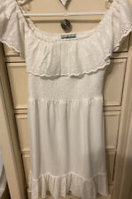 New Almost Famous Juniors' White Off-The-Shoulder Dress Size Medium