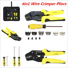 4in1 Wire Crimper Pliers Ratcheting Terminal Crimping Hand Tool Professional New
