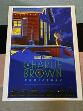 Laurent Durieux Charlie Brown Christmas  Poster Art Print Charles Schultz