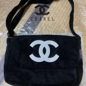 CHANEL Precision Novelty Shoulder Back Bag Velor Fabric Japan F/S Rare Exc++