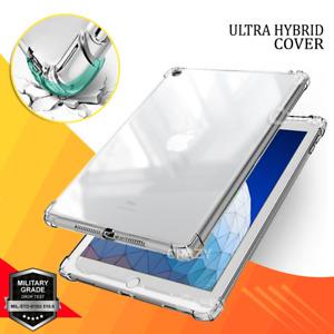 For Apple iPad 8th 7th 6th 5th Gen Air 1 2 3 4th Gen Clear Case Heavy Duty Cover