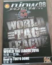 FeeShipping! New Japan Pro Wrestling Official Program 2008 World Tag League WWE