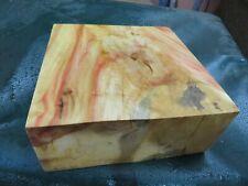 FF- FLAME BOX ELDER BURL  DELUXE KNIFE BLOCK/SCALES/ CALLS/ PEN BLANKS--F--49