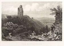 KYFFHÄUSER - REICHSBURG KYFFHAUSEN - Bechstein - Stahlstich 1838