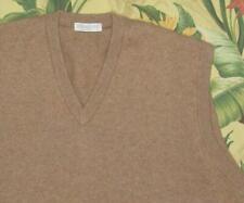 Mens LYLE & SCOTT Camel Brown Cashmere Scotland Sweater Vest XL