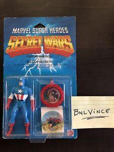 Marvel Super Heroes Secret Wars CAPTAIN AMERICA 1984 Mattel #7205 Spanish Card