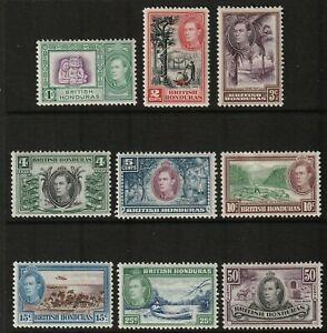 Sc115 - 23  /  SG150 - 58 ps British Honduras - Geo VI - 1938 - MLH - superfleas