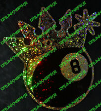 8 Ball Sticker Bomb Crown Car jdm dub Van Funny Chopped Glitter Gold