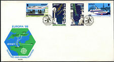 Jersey 1988 Europa, Transport & Communication FDC First Day Cover #C42270