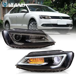 VLAND LED Headlights For 2011-2018 VW Jetta MK6 GLI Audi Look LED DRL Projector