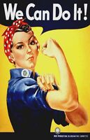 "Vintage Patriotic Poster ""We can do it ! "" WW 2"