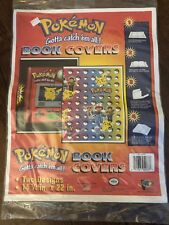 Pokedex Pikachu Pokeball NINTENDO Pokemon Anime 2 BOOK COVERS Orig Pack 1999