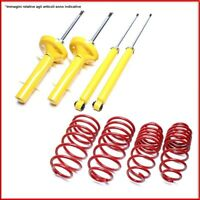 Kit Assetto Sportivo Ammortizzatori Molle VW Golf IV 1.8I 4 Motion 30/30mm TA -