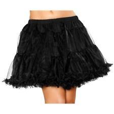"""Black net skirt Underskirt Petticoat O/S UK 8-12 """" 15"""" length UK Seller Tutu"""