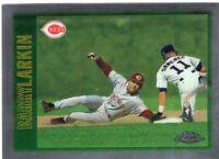 1997 TOPPS CHROME BASEBALL CARD # 149 - HOF BARRY LARKIN - CINCINNATI REDS
