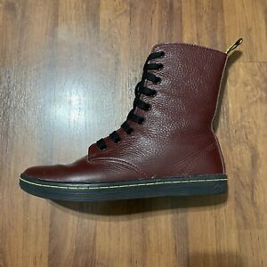 Dr. Martens Stratford Womens Sz 7 Red Leather Lace Up Chukka Classic Boots