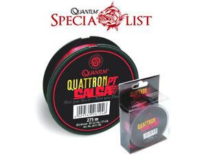 Monofile Schnur - Quantum Quattron Salsa - Transparent-rot - 275 m Spule