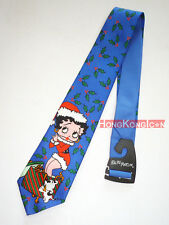 Betty Boop 1993 Ralph Marlin Made in USA Christmas Men's Necktie Neck Tie NEW