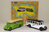 Corgi 97741; Island Transport 2 Bedford OB Coach Set JMT Pioneer Excellent Boxed