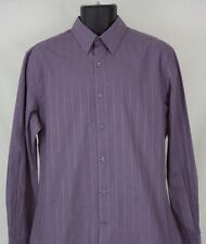 NEW Mens John Henry Purple Button Front Long Sleeve Size M Medium
